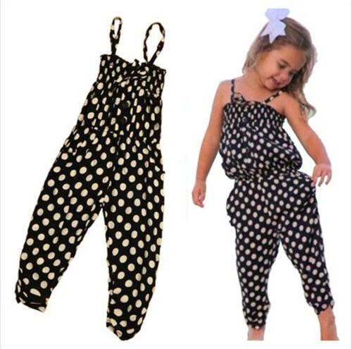 Toddler Kids Baby Girls Summer Strap Romper Jumpsuit Harem P