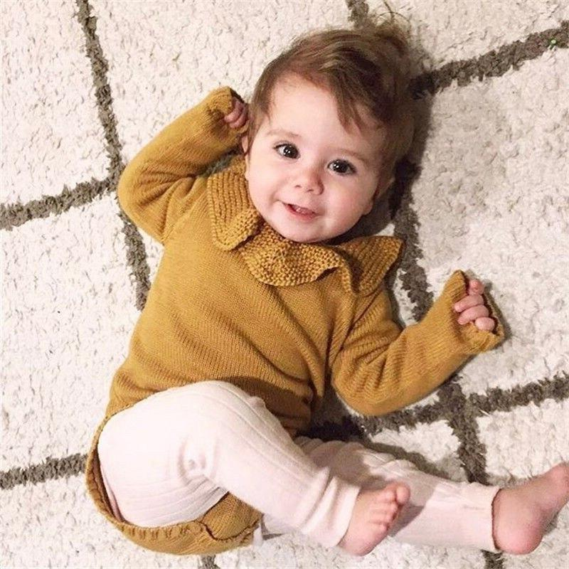 Toddler Casual <font><b>Baby</b></font> Winter Sweater Romper Sleeve Sweaters