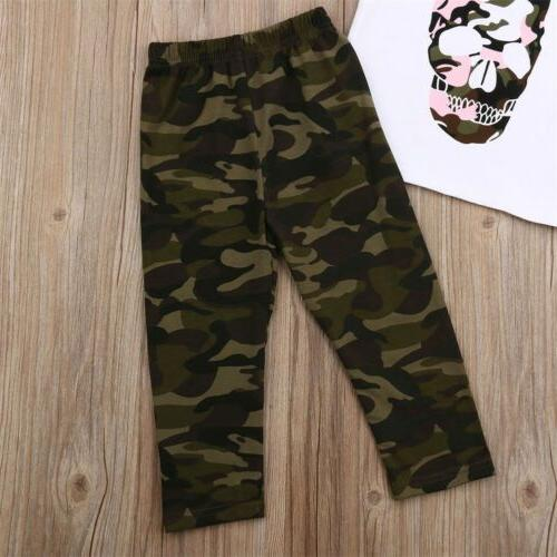US Girl Boys Camouflage Long Clothes