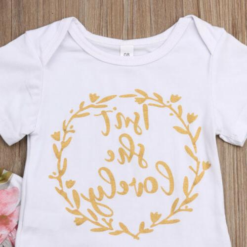 US 3PCS Girl Clothes Shorts Sleeve Romper Tops Outfit