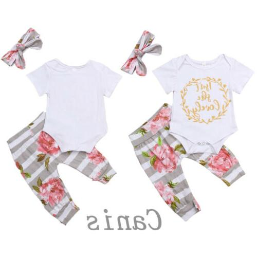 US 3PCS Girl Clothes Outfit
