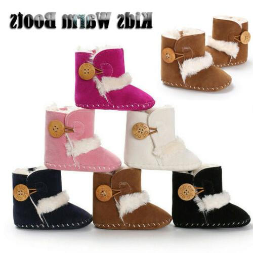 US Girl Snow Boots Infant Kids Soft Shoes