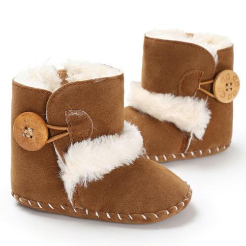 US Baby Snow Boots Winter Boots Infant Kids New Soft Bottom