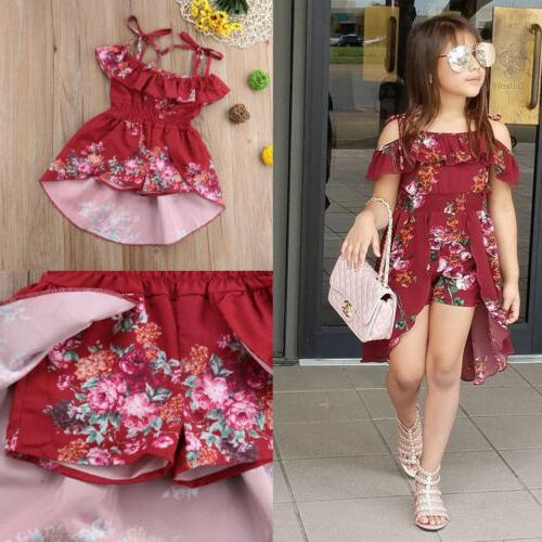 US Kids Baby Flower Girl Party Gown Sundress