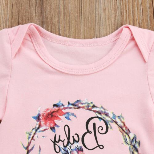 US Newborn Infant Girl Floral Romper Set