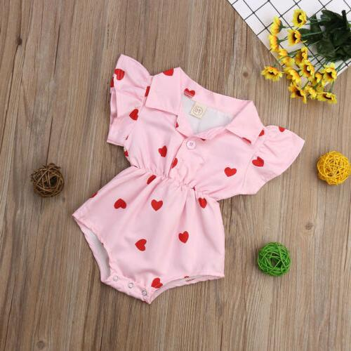 US Baby Girl Summer Jumpsuit Outfits