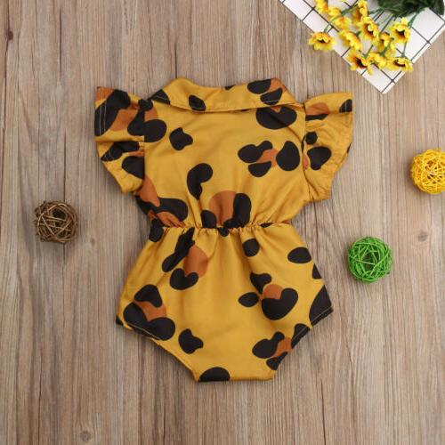 US Newborn Summer Ruffle Sleeveless Romper Jumpsuit Outfits Clothes