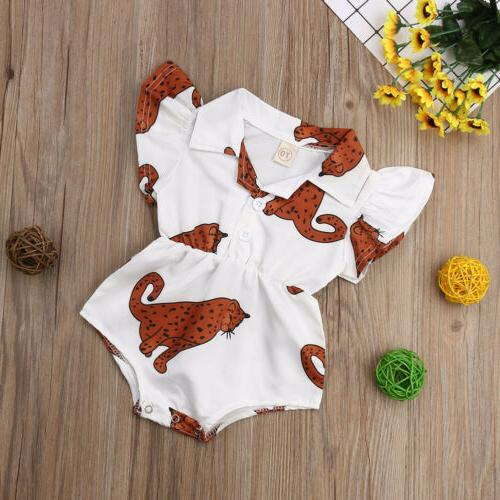 US Newborn Baby Girl Summer Jumpsuit Outfits Clothes