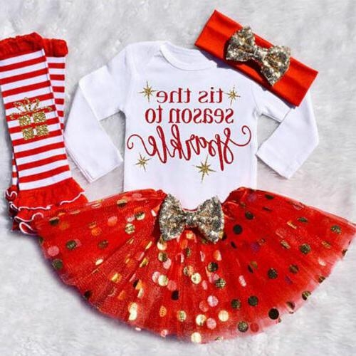 us newborn infant baby girl christmas clothes