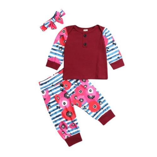 US Girl T-Shirt Long Pants 3PCS Clothes Outfits