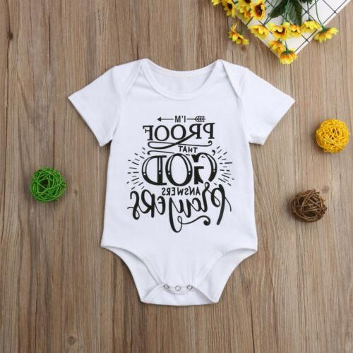 US Toddler Baby Girl Bodysuit Jumpsuit Sunsuit Clothes