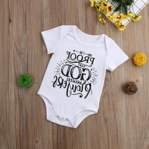 US Infant Baby Romper Bodysuit Jumpsuit Sunsuit Clothes