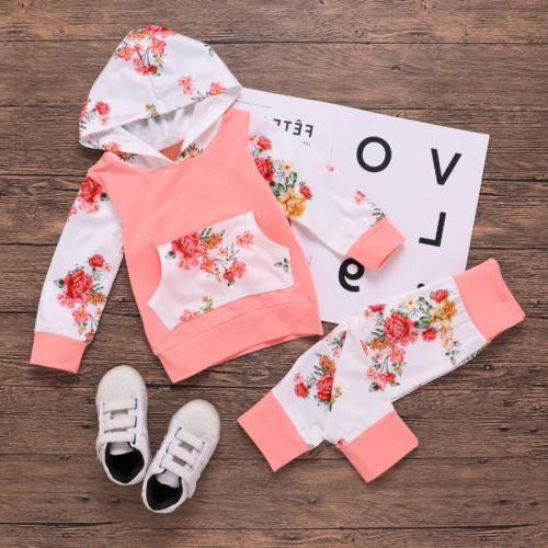 Girl Boy Winter Outfits Floral Pants