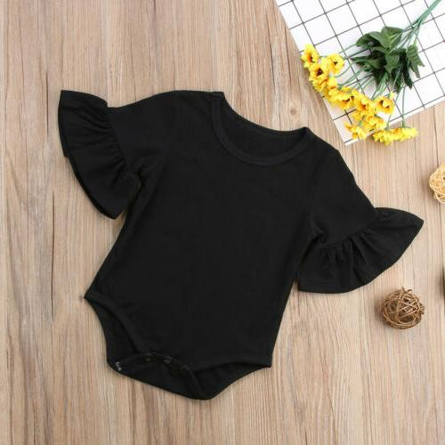 US STOCK Newborn Baby Girl Romper Cotton