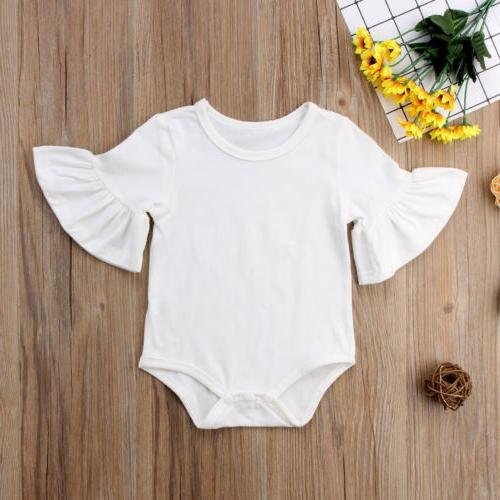 US STOCK Newborn Girl Clothes Sleeve