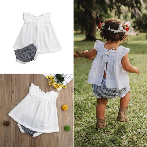 Girl Clothes Dress+Shorts 0-24M