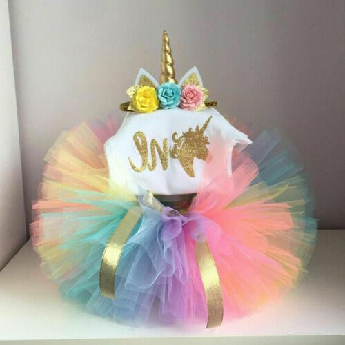 us toddler baby girl 1st birthday unicorn