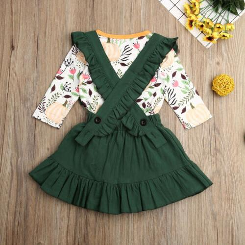 US Toddler Halloween +Suspender Skirt Outfits