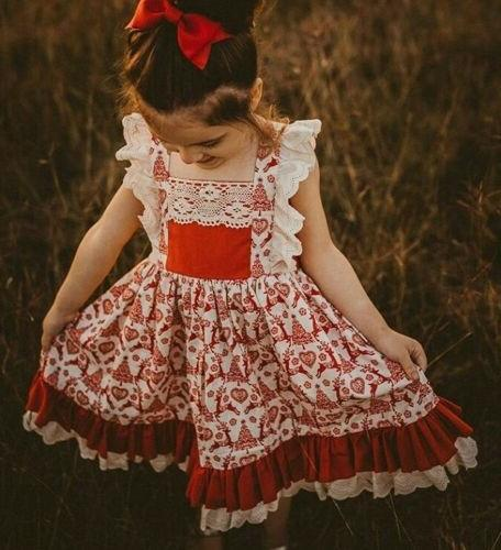 US Kid Baby Girl Clothes Princess Party Prom Summer Dress