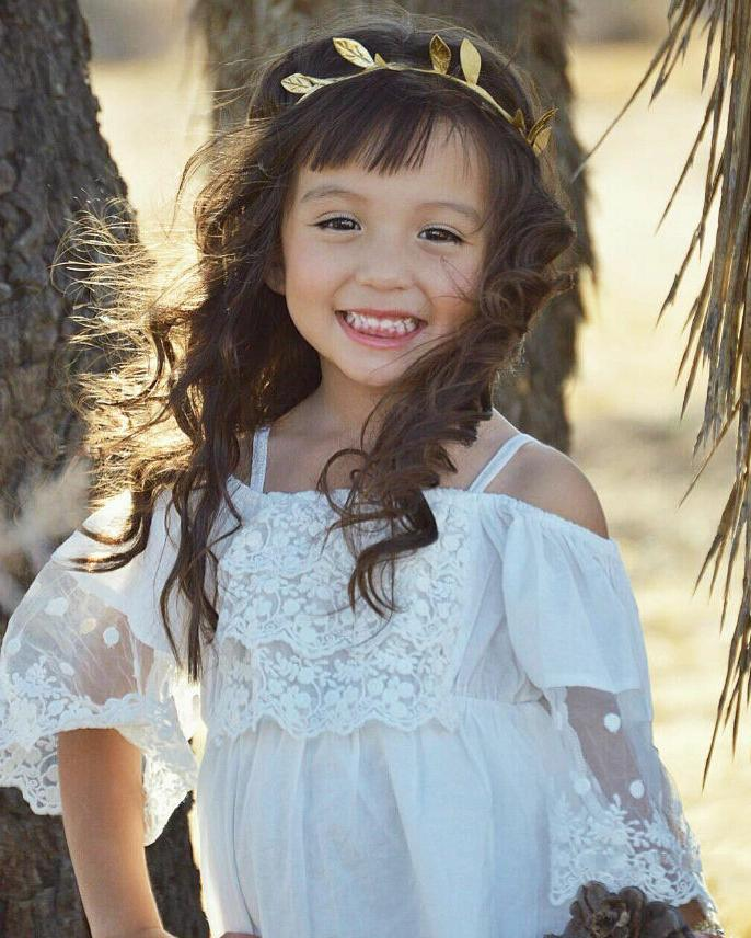 US Toddler Girls Lace Princess Party Beach Dresses