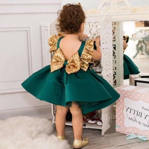 USA Girls Dress Sequin Party Birthday Pageant Kids