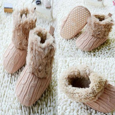 New Cotton Knitted Boots Fur Crib Shoes