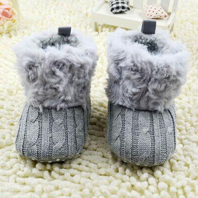New Baby Cotton Boots Crib Shoes