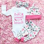 USA Infant Newborn Outfit Baby Girls Rompers Leggings Playsu