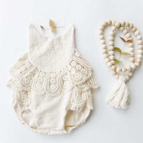 usa newborn baby girl romper lace floral