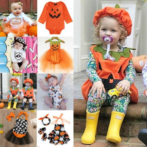 USA Toddler Baby Girl Halloween Costume Kid Top Romper Dress