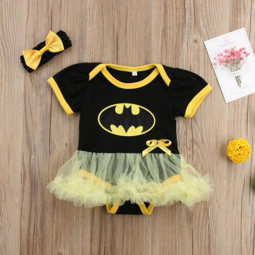 US Newborn Baby Girl Tutu Dress Skirt Party Clothes
