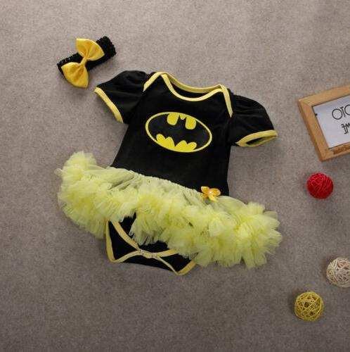 US Stock Newborn Baby Girl Romper Tutu Dress Party Clothes