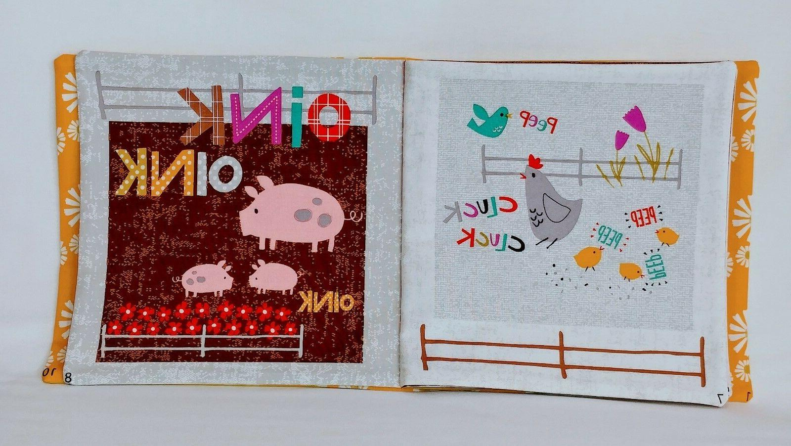 Wildflower Farm - Soft Cloth Books for Baby, Children, Toddler