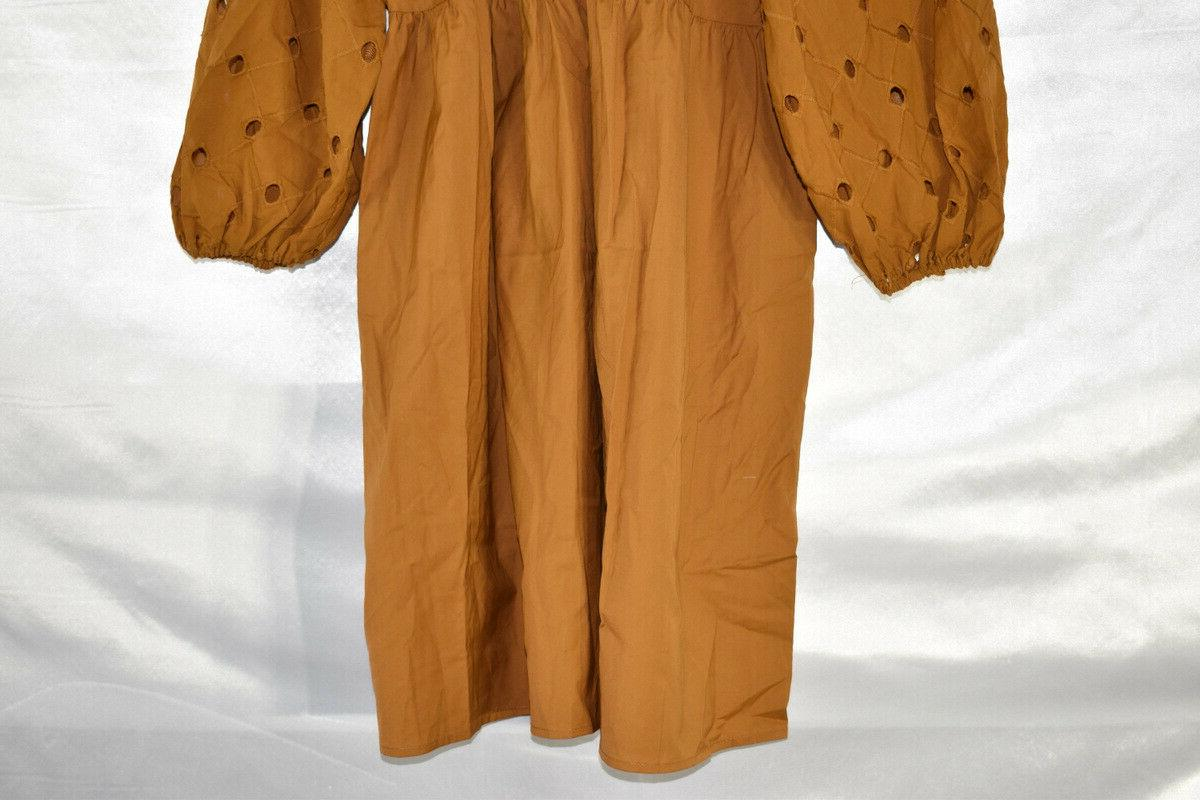 A Day Women's 3/4 Sleeve Dress, Brown, Size NwT