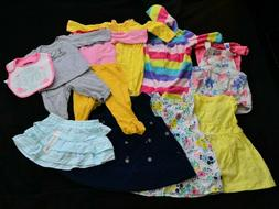 Lot of 11 Mixed Carter's Baby Girl Clothes 6-9 Months Bodysu