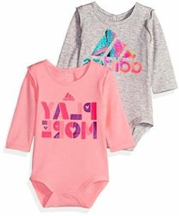 Adidas  Childrens Apparel adidas Baby Girls Logo Body Shirt