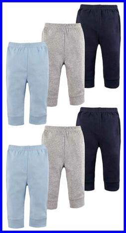 Luvable Friends Baby Boys & Girls 6 Pack Tapered Ankle Pants