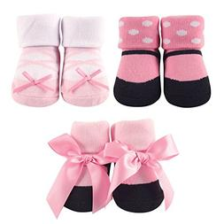 Luvable Friends 3 Pair Decorated Socks Gift Set - Ballet
