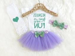 Mermaid Outfit for Baby Girl, Mermaids Have More Fun, Baby G