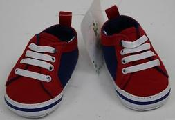 Disney Mickey Mouse Baby Infant Girls Red & Blue Sneakers Si