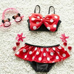 Minnie Mouse Baby Swimwear Girl Swimsuit Swimming Cartoon Bi