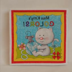 Miss Kitty's Colors - Soft Cloth Books for Baby, Children, B
