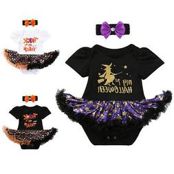 My First Halloween Costume Newborn Baby Girl Pumpkin Fancy D