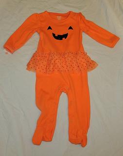 New Baby Girl First Halloween Outfit Pajamas Skirt Size 9 Mo