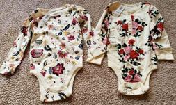 Old Navy New Baby Girl Floral Onsies 18-24 Months