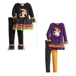 New Bonnie Jean Baby Girl Ghost Owl Halloween Dress Leggings
