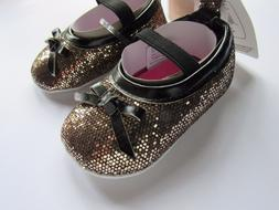 New Luvable Friends Baby Girl Slip-On Baby Bootie Sparkle Go