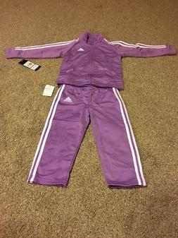 NEW Baby Girl Adidas Track Suit Warm Up size 24M Toddler Adi