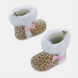 NEW  Baby Girls Carters Child of Mine Cheetah Faux Fur Boots