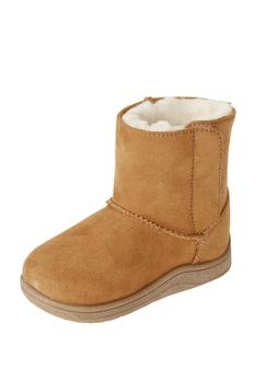 NEW Baby Girls Wonder Nation Tan Faux Suede Pull On Boots Sh
